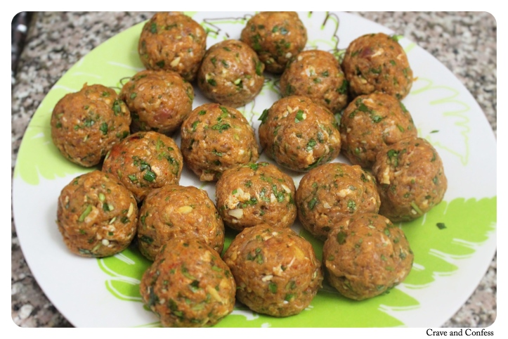 Meatballs are ready for the curry