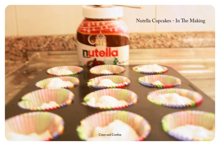 Nutella cupcakes in making