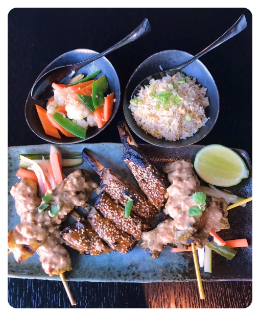 Hot Platter Chicken Beef Sate Lamb BBQ ribs Zengo Kempinski Residences Suites Doha