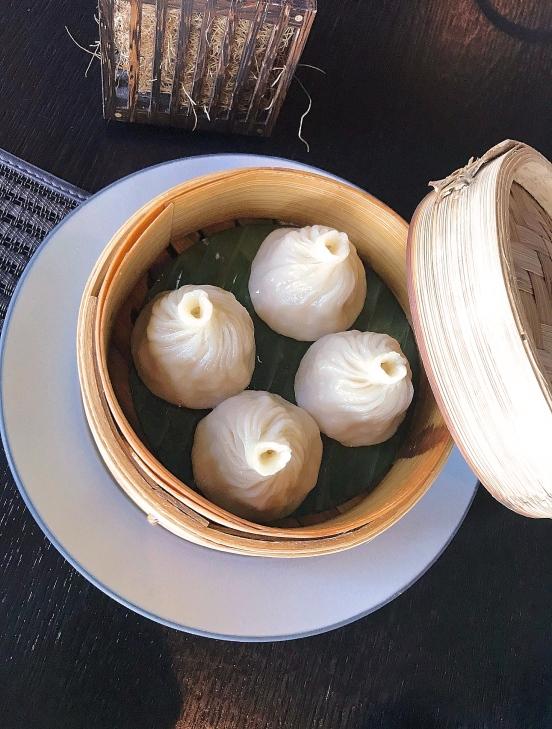 Crab dumplings zzZengo Kempinski Residences Suites Doha