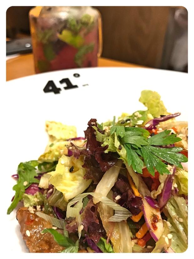 doha qatar 41 Degrees beef salad