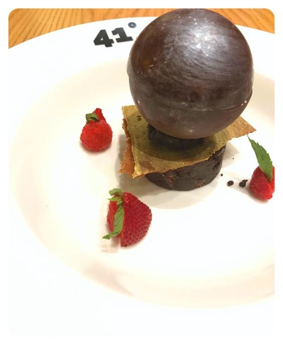 doha qatar 41 Degrees Triple Chocolate brownie pecan surprise